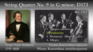 Schubert: String Quartet No. 9, Vienna Konzerthaus Quartet (1953) シューベルト 弦楽四重奏曲第9番