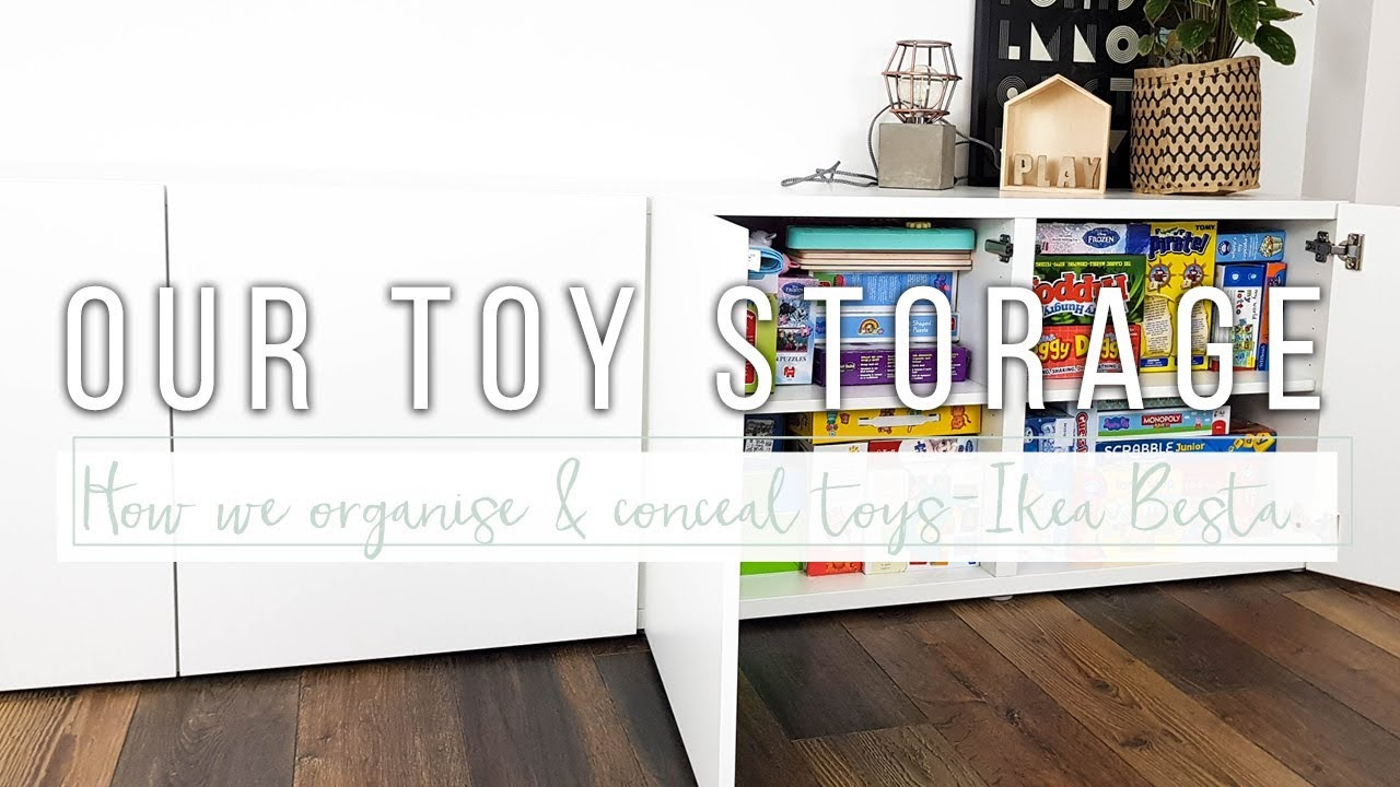Toy Storage Ideas u0026 Organisation | Ikea Besta Hidden Toy Storage System  sc 1 st  YouTube : storage toys  - Aquiesqueretaro.Com
