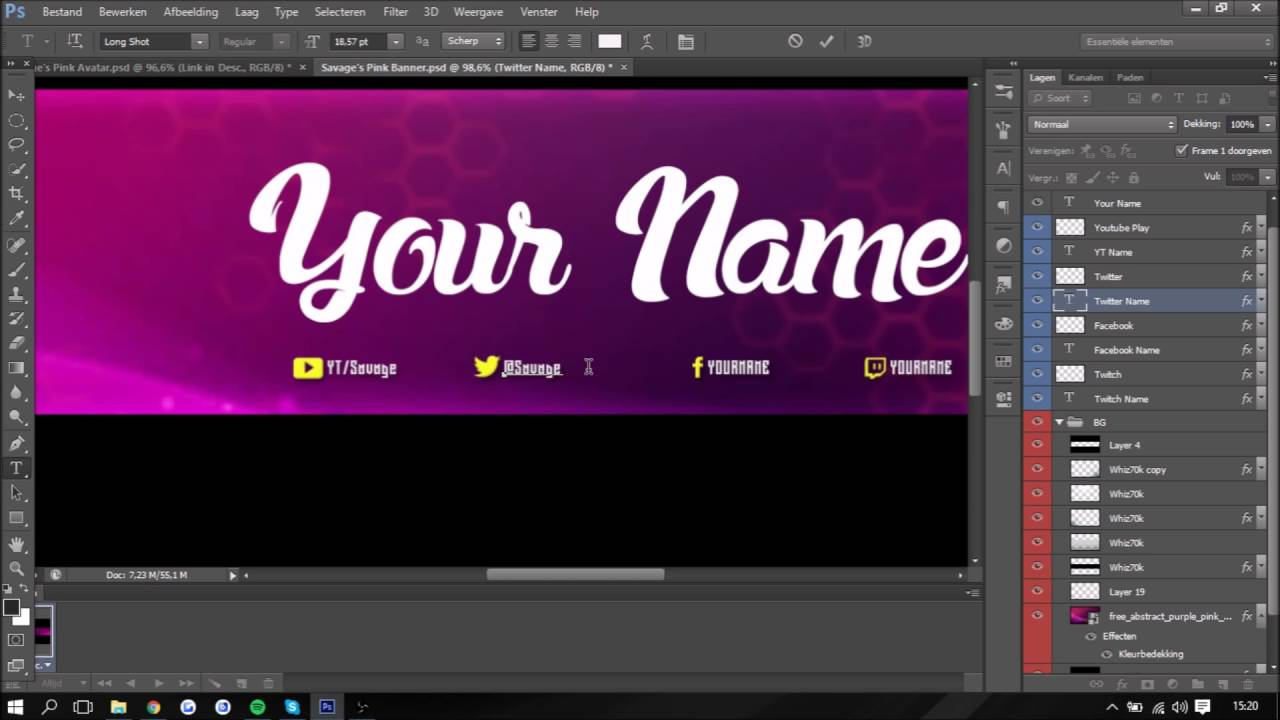 Free youtube banner and avatar pink themed psd youtube - Youtube banner pictures ...