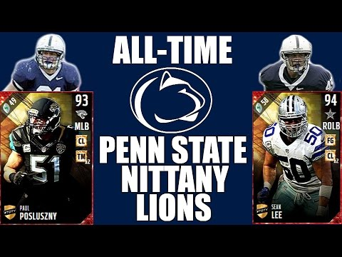 All-Time Penn State Nittany Lions Team - Paul Posluszny and Sean Lee! - Madden 17 Ultimate Team
