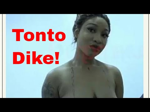 Actress Tonto Dike removes all her clothes on Linda Ikeji reality TV show