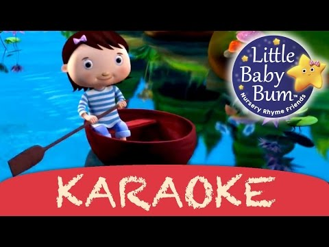 karaoke: Row Row Row Your Boat - Instrumental Version With Lyrics HD from LittleBabyBum!