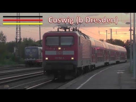 Treinen op station Coswig (b Dresden) #1 (D)