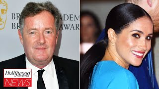 Piers Morgan Walks Off Set After Being Called Out Over Meghan Markle Comments | THR News