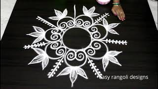 Amazing freehand kolam by easy rangoli designs - Muggulu without dots