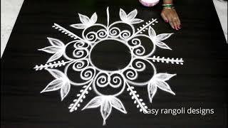 Amazing freehand kolam by easy rangoli designs - Muggulu without dots