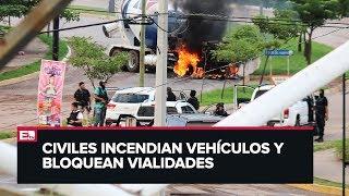 Caos y balaceras en Culiacán, Sinaloa, tras captura de hijo de El Chapo