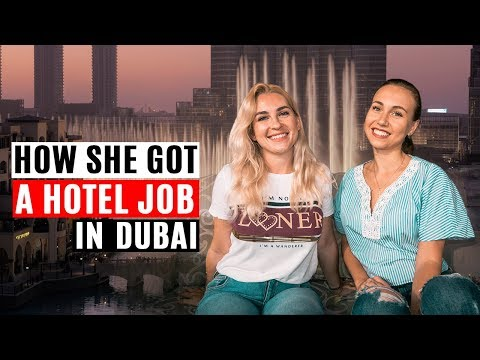 How Polina found a hotel job in Dubai. Jobs in Dubai 2018.