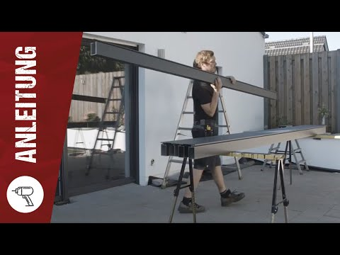 steda montageanleitung f r terrassen berdachung aus aluminium. Black Bedroom Furniture Sets. Home Design Ideas