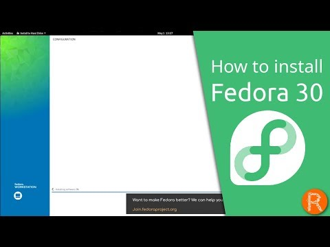 How to install Fedora 30 - YouTube