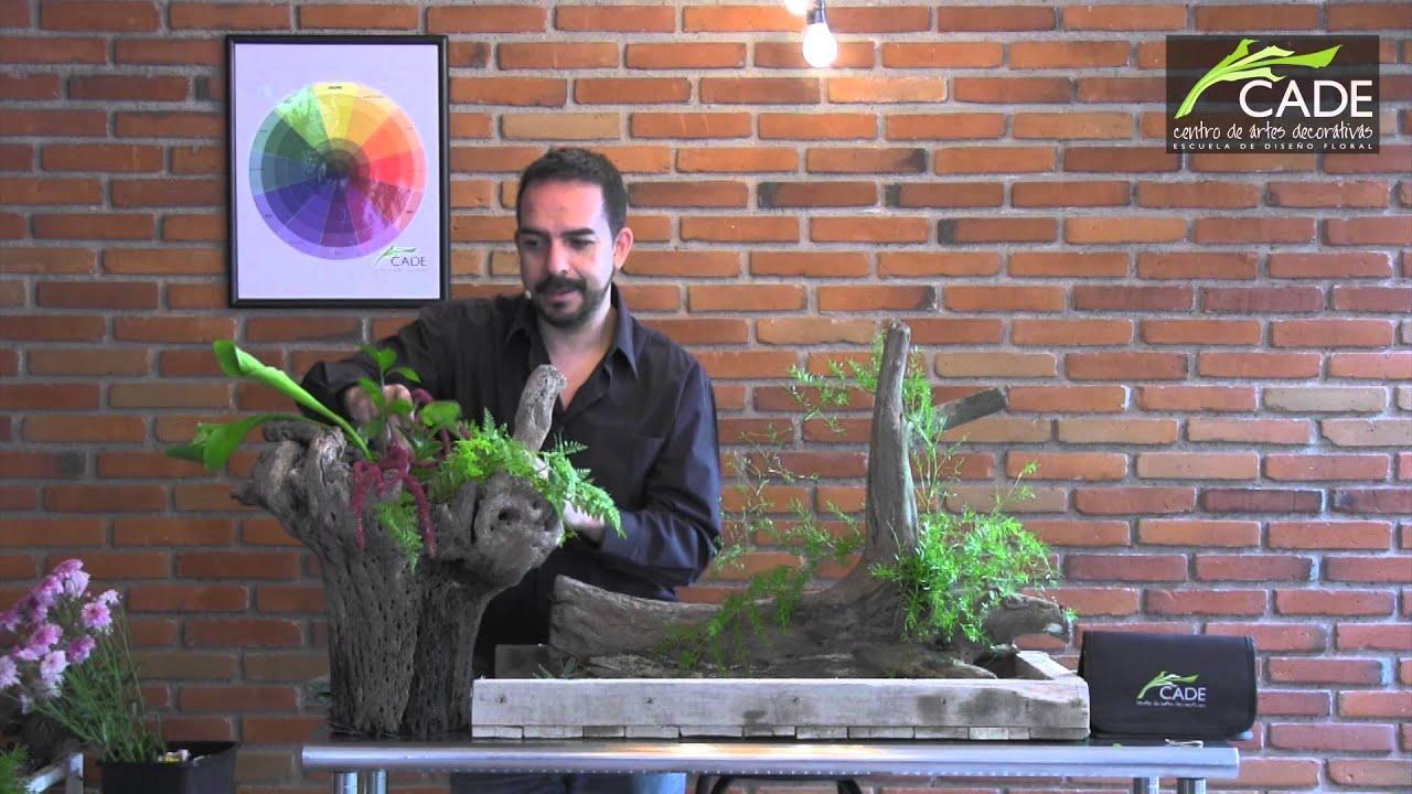 Como hacer un arreglo natiralista con troncos youtube for Como hacer un jardin