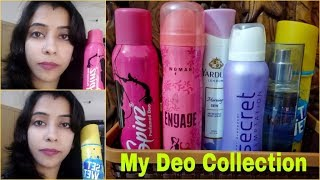 My Deodrant Collection | Awesome Frangrances | My Favourite deos | Nidhi Gupta