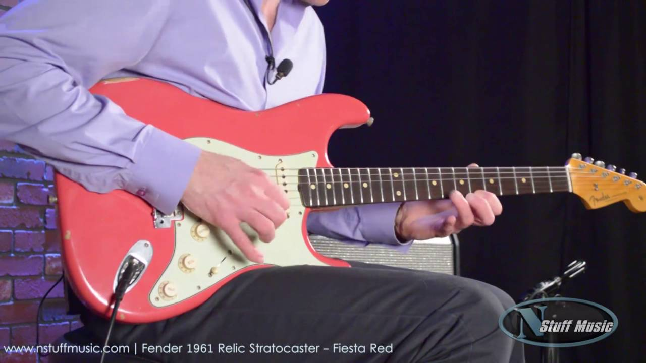 Fender 1961 Relic Stratocaster - Fiesta Red | N Stuff Music
