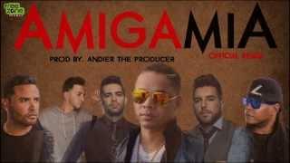 El Roockie - Amiga mia Remix feat. Zion & Lennox, Alkilados, J Quiles [Video Lyrics]