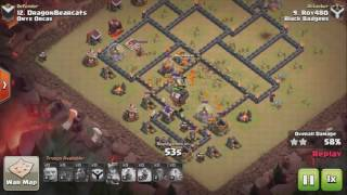 Clash of Clans TH9 QUAD LaLoon (no Barb King) 3 STAR ATTACK
