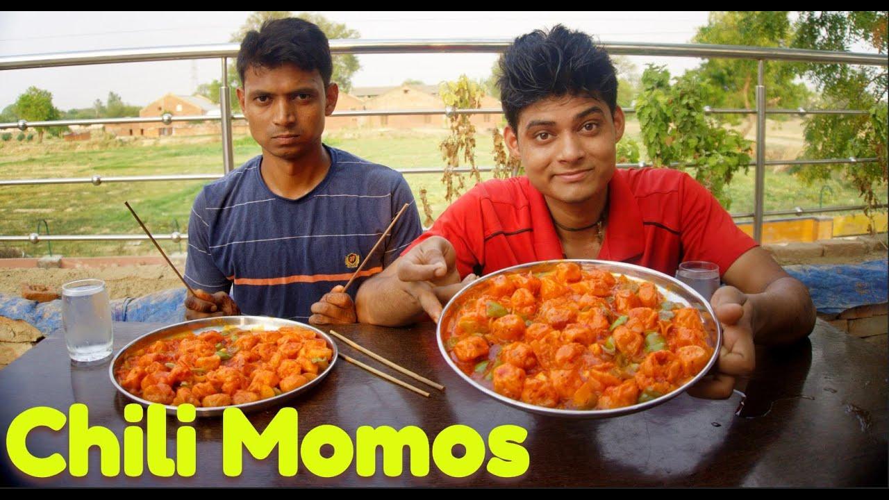 Restaurants Style Chilli Gravy Momos Eating Challenge | Gravy Momo Challenge | Dumplings Eating