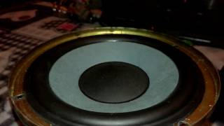 Panasonic Subwoofer Max excursion test