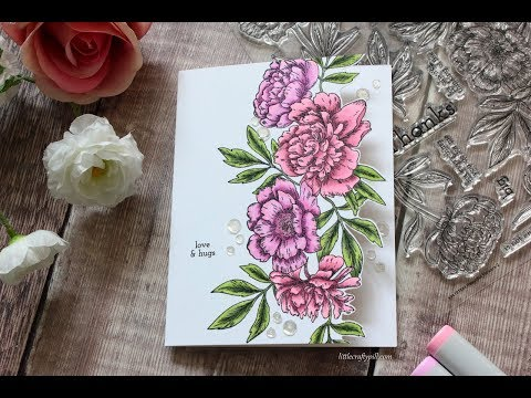 Flower Edge Card + STAMPtember 2018 Blog Party