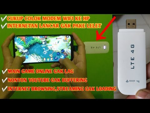 Internetan pake Modem Wifi Cukup Colok ke Hp - Puas Lancar Abiss - 동영상