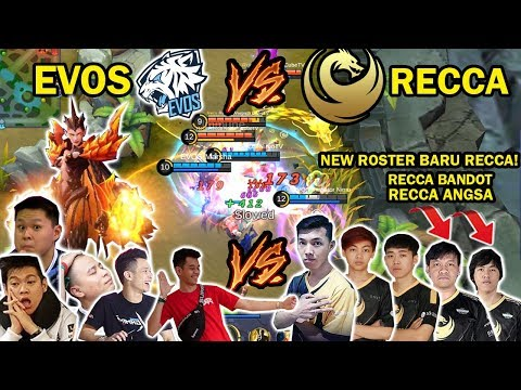PERTANDINGAN 2 TEAM PRO PLAYER! EVOS VS RECCA ESPORT! JESS NO LIMIT PAKAI HERO MARKSMAN KARRIE!