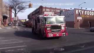FDNY Fire trucks responding Brooklyn New York 2015 HD ©