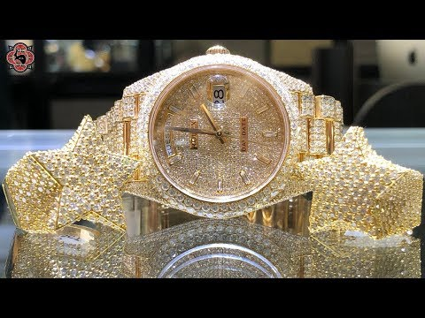 REVIEW 40/22 Grams 14K Gold / Diamond RINGS   ICED OUT Rolex DAYDATE
