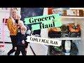 Family Weekly Shop & Meal Plan - Vegetarian Swap Grocery Haul!  SJ STRUM