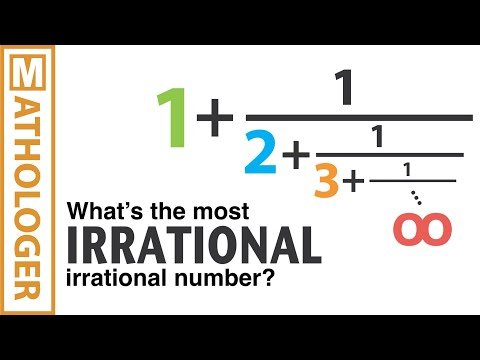 Infinite fractions and the most irrational number