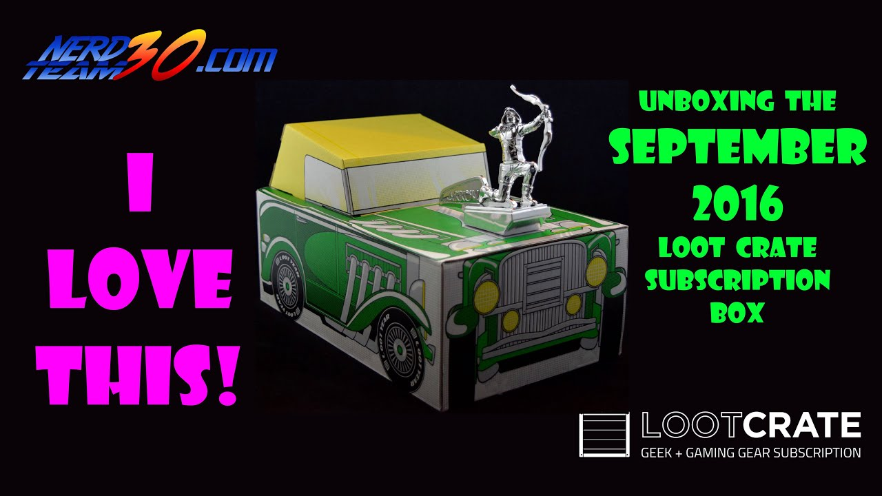 loot crate september 2016 unboxing speed i love this youtube