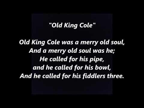 Old King Cole LYRICS WORDS BEST TOP POPULAR FAVORITE TRENDING SING ALONG SONGS