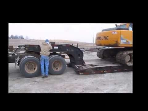 crazy unloading car amazing unloading excavator vacuum truck operation