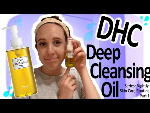 Nightly Skincare Part Of Dhc Deep Cleansing Oil