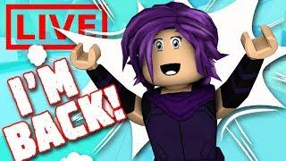 Livestream | I'm Back! Roblox Minigames