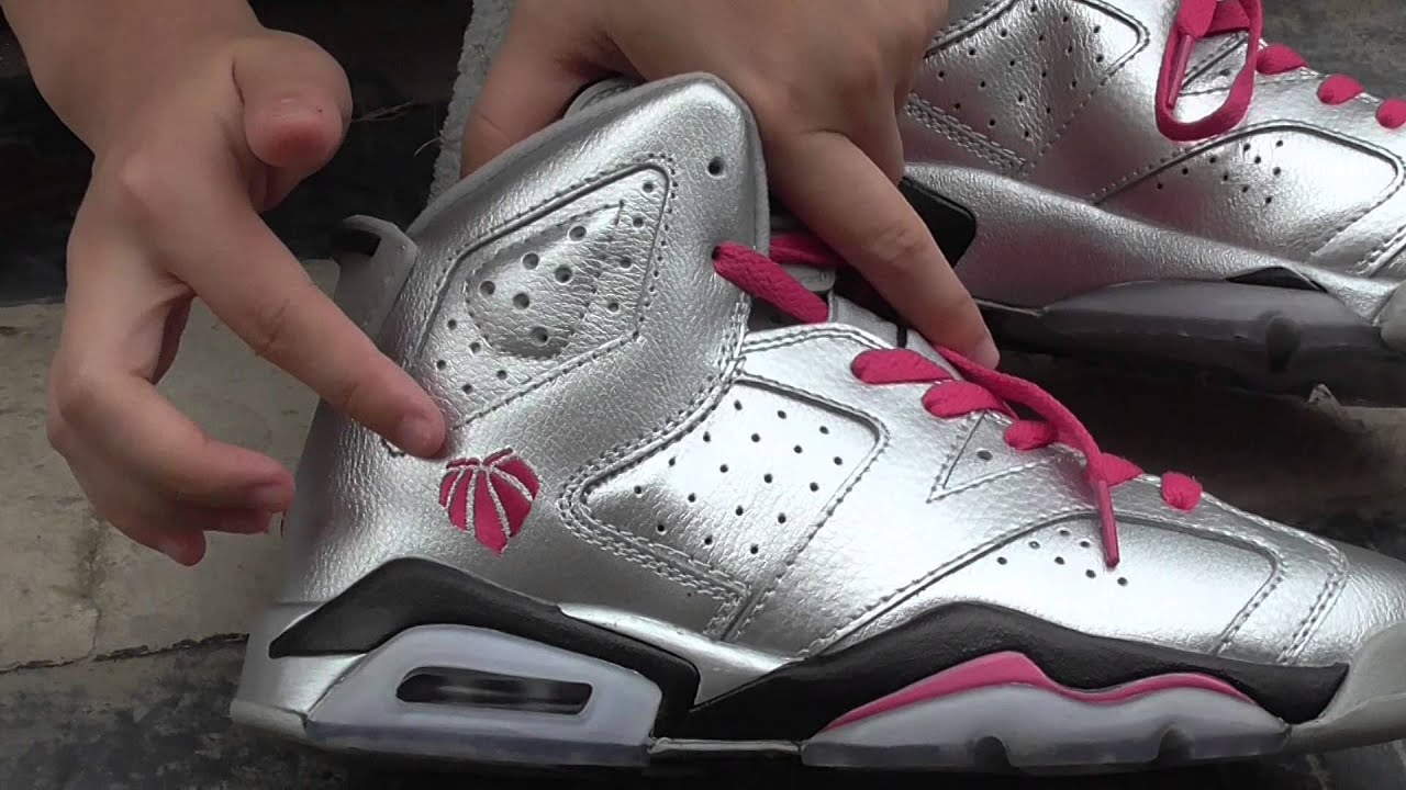 393b366f4376cf Beautiful Air Jordan 6 white infrared   silver pink On-feet   details check