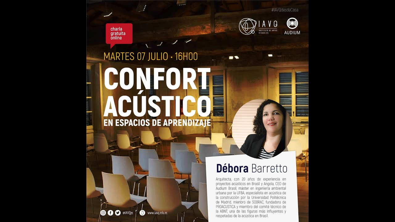 🔊👷♀👷♂ Confort Acústico con Débora Barreto