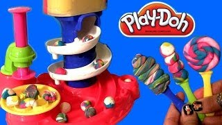 Play Doh Candy Cyclone Set Make Gumballs Candies Lollipops Gumball Machine Clay Toy Review