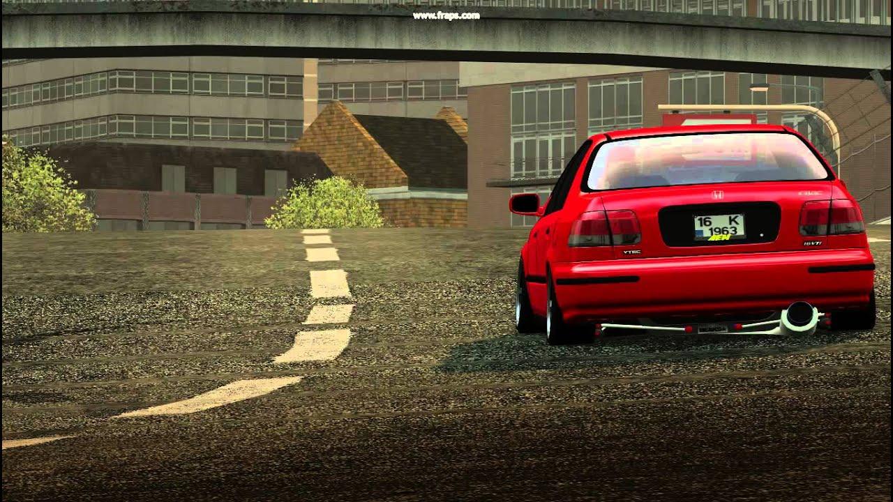 LFS - Honda Civic 1.6 VTİ - TugayBircan - YouTube