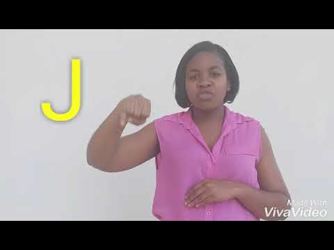 Barbados Sign Language (BSL) , Alphabet ABC