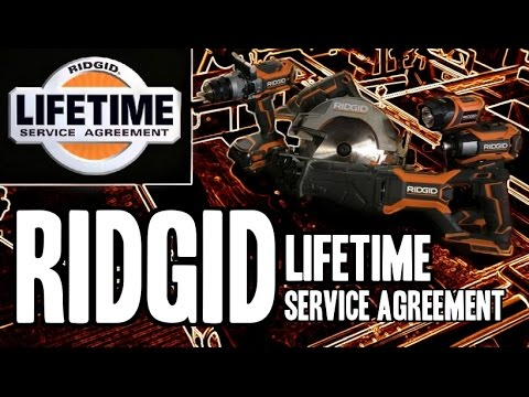 RIDGID L.S.A. - Lifetime Service Agreement
