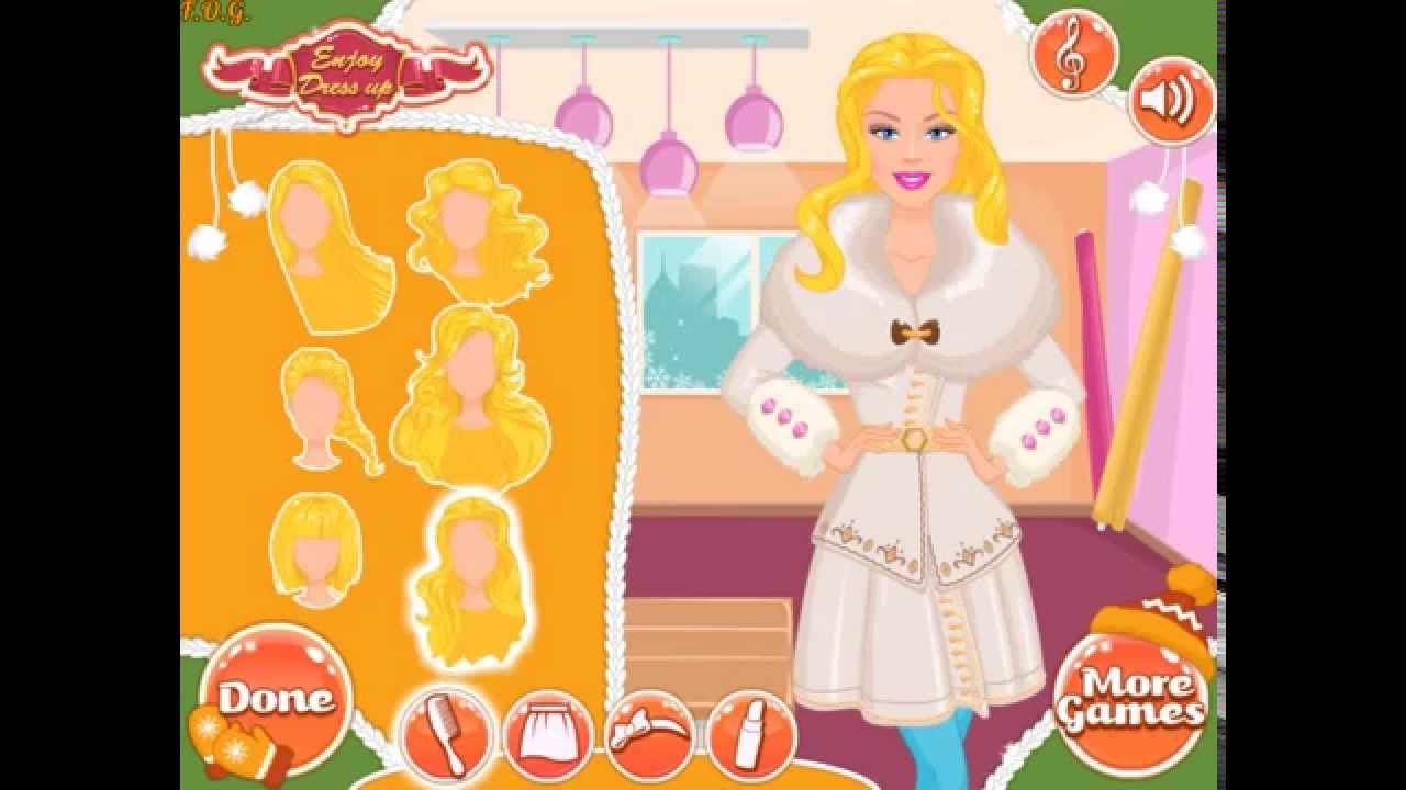 Barbie Design Your Winter Coat (Дизайн - пальто для девушек дизайн