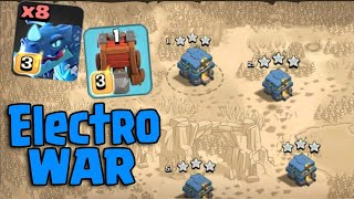 8 Electro Dragon 6 Balloon & Siege Machine = Electro War TH12 | New Attack TH12 Clash Of Clans