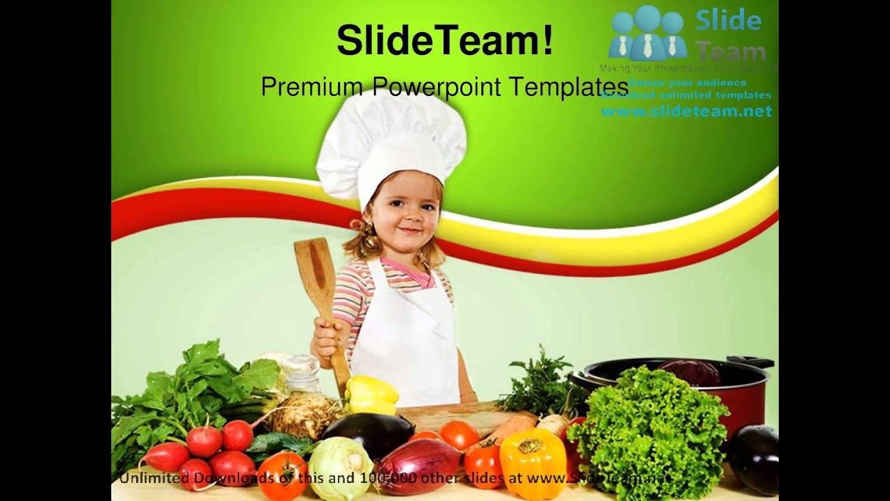 little chef with vegetables food powerpoint templates themes and backgrounds ppt themes youtube. Black Bedroom Furniture Sets. Home Design Ideas