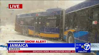 VIDEO: MTA buses collide into each other in Queens