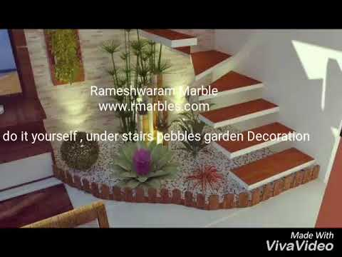 Diy Under Stairs Indoor Pebble Decorations Youtube