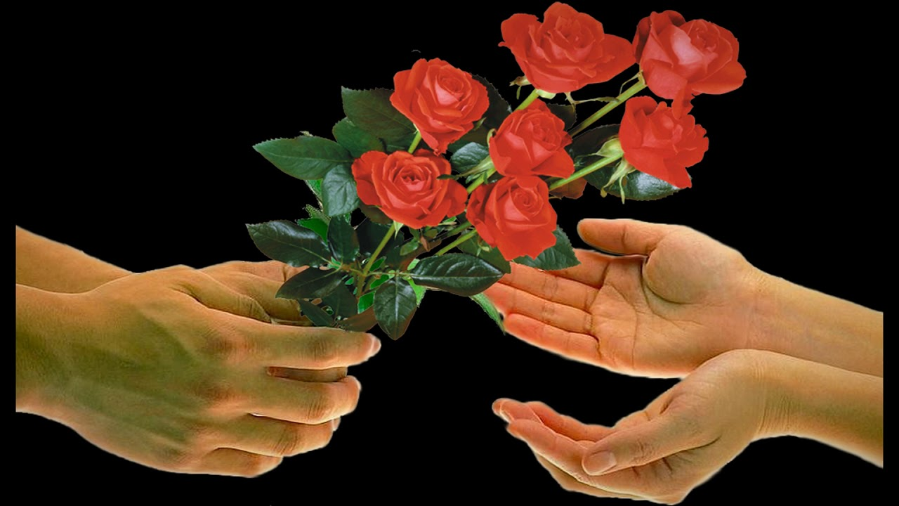 Открытка от меня для тебя цветок волшебный выбор, готовый