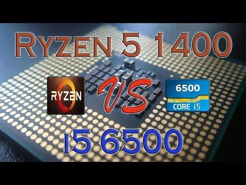 RYZEN 5 1400 Vs I5 6500 BENCHMARKS / GAMING TESTS REVIEW AND COMPARISON / Ryzen Vs Skylake