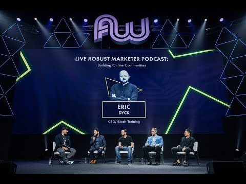 Live Robust Marketer Podcast: Building Online Communities | AWasia 2017