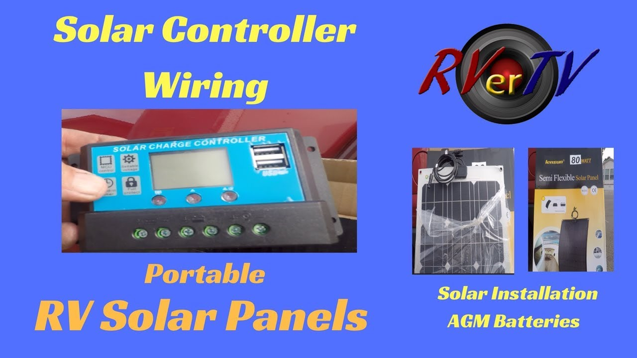 wiring solar controller rv solar systems portable solar panel rh youtube com
