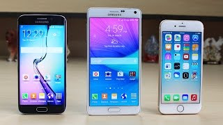 samsung galaxy s6 edge vs iphone 6 vs note 4 speed test