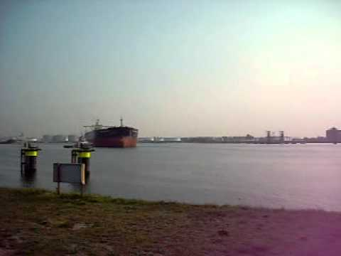 Tanker towed at Rotterdam port